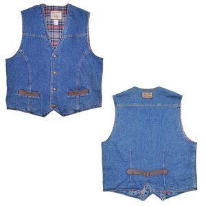 Vintage Wrangler Outerwear Jean Denim Western Vest